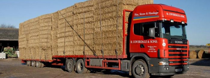 R Coverdale supply straw, hay, haylage and silage in quadrant and round bales.